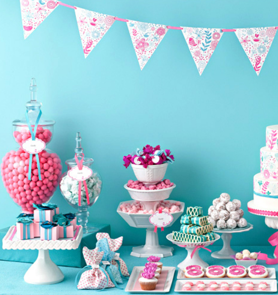 Pink & Blue Candy Bar