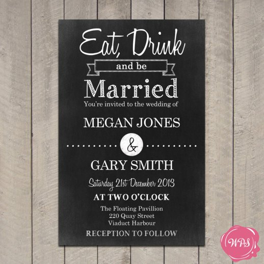 Eat Drink Marry Invitation